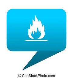 flame blue bubble icon