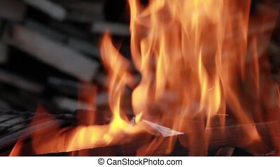 flame bonfire close to