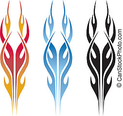 Flame Car Tattoo - A great flame design for a classic hot...