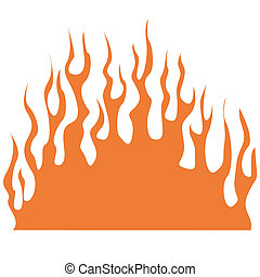 Flame clip art in vector format.