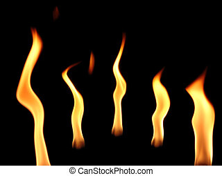 Flame Dance - Flames in a row