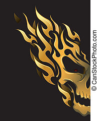 Illustration of Ready to Print Flame Stickers or Tattoo Designs