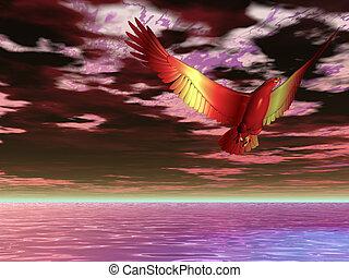 Flame Eagle Surreal
