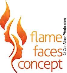 Flame Faces Concept