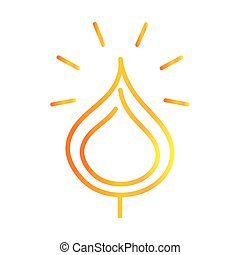 flame fire burn light glowing gradient style icon vector