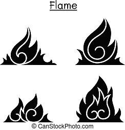 Flame , fire, burn vector illustration graphic design