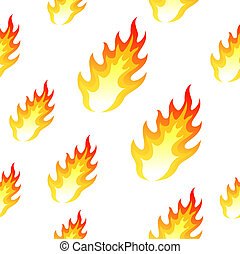 Flame, fire seamless background
