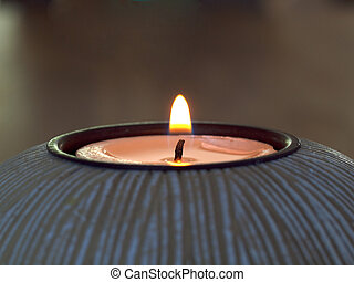Flame from a Single Candle