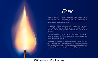 Flame from Candle Vector Illustration with Text