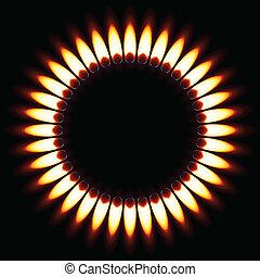 flame., gás