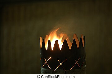 Flame Goblet - Flame in a serrated goblet.