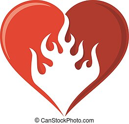 Flame heart icon