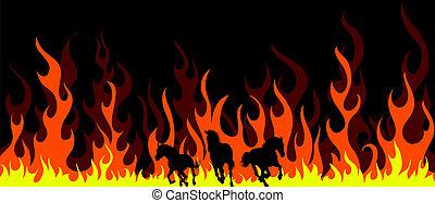 flame horses