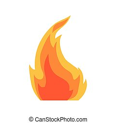 Flame icon. Fire design. Vector graphic
