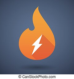 Flame icon with a lightning