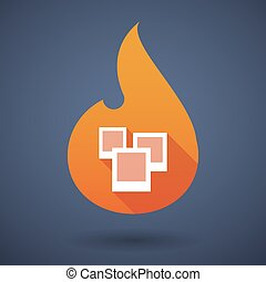 Flame icon with photos
