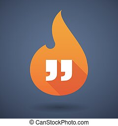 Flame icon with quotes