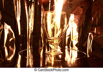 flame in goblet
