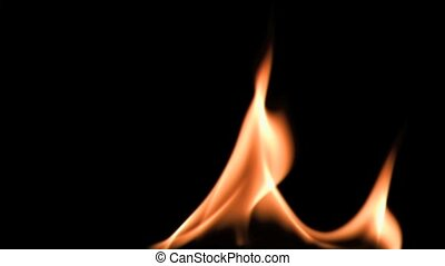 Flame in super slow motion