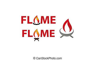 Flame logo Template Set