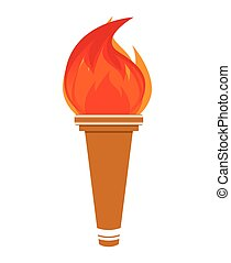 flame olimpic isolated icon vector illustration design