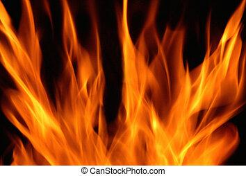 FLAME ON DARK BACKGROUND