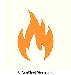 Flame orange icon on white background for graphic and web design, Modern simple vector sign. Internet concept. Trendy symbol for website design web button or mobile app.