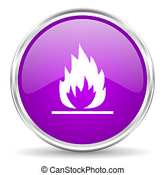 flame pink glossy icon