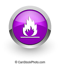 flame pink glossy web icon