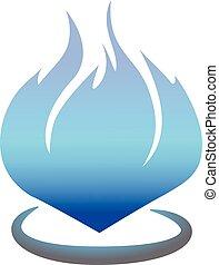 flame symbol, fire design vector illustration