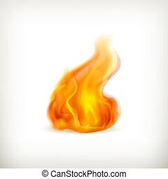 Flame, vector icon