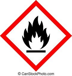 Flame vector sign