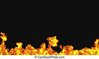 Flame with alpha matte  - Flame with alpha matte