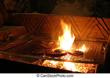 Flamed Steaks - Flame grilled steaks