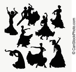 Flamenco dance silhouette