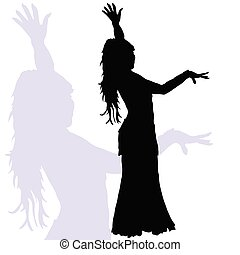flamenco dance woman silhouette