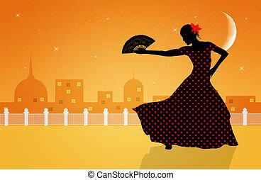 flamenco dancer - Illustration of flamenco dancer