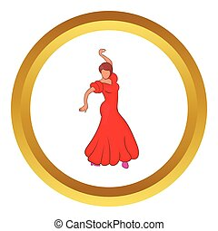 Flamenco dancer vector icon