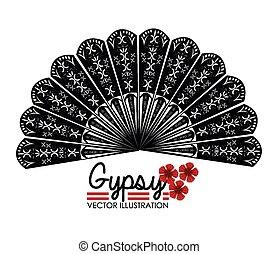 Flamenco design, vector illustration. - Flamenco design over...
