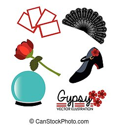 Flamenco design, vector illustration. - Flamenco design over...