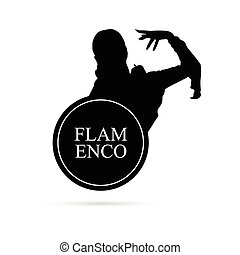 flamenco girl vector silhouette