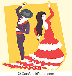 flamenco   - typical spanish flamenco  illustration