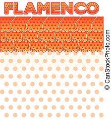 Flamenco party card, vector