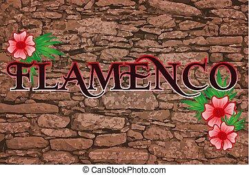 Flamenco party invitation card, vector illustration