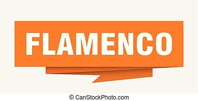 flamenco sign. flamenco paper origami speech bubble....