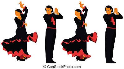flamenco, spanien