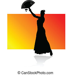 flamenco spanish dance woman black
