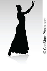 flamenco spanish dance woman