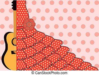 Flamenco style banner, vector