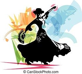Flamenco woman dancer